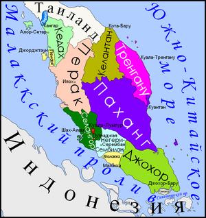 КартаЗападнойМалайзии